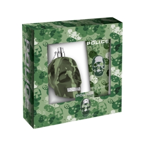 presentförpackning dusch kräm och parfym-police camoflage