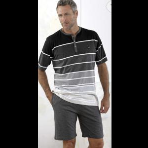 herr pyjamas svart med shorts