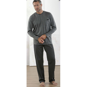 pyjamas herr-grå